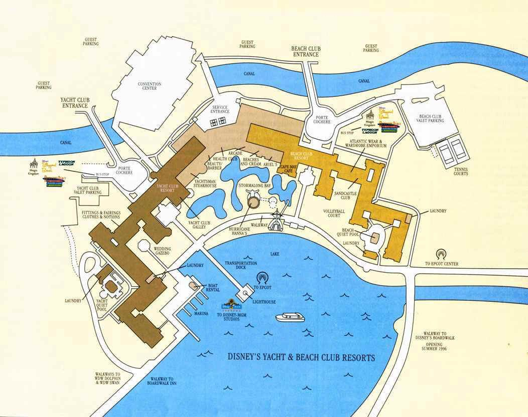 Disney's Yacht & Beach Club Resort Map on